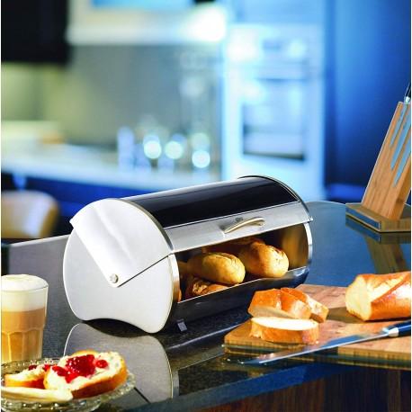 GEFU RONDO 33600 kutija za kruh inox/ sigurnosno crno staklo