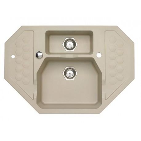 ALVEUS SENSUAL 60, granital sudoper KUTNI sa daljinskim upravljanjem, za element 90 x 90 cm