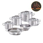 FISSLER ORIGINAL PRO-COLLECTION ( 084-143-06-000/0 ) 6-dijelni JUBILARNI 175 years set inox posuđa sa staklenim poklopcima