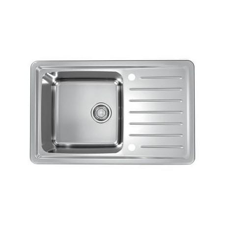 ALVEUS GALEO 20 inox sudoper za ormar od 50 cm + CLEO-P pipa krom sa tušem, AKCIJA