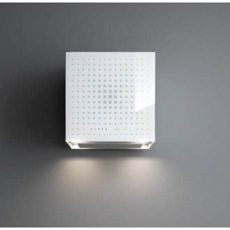 FALMEC RUBIK E.ion, zidna napa bijelo ili crno temperirano staklo, 42 cm