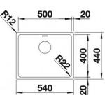 BLANCO ANDANO 500-IF  INOX 18/10, bez dalj.uprav. ( 518315 )
