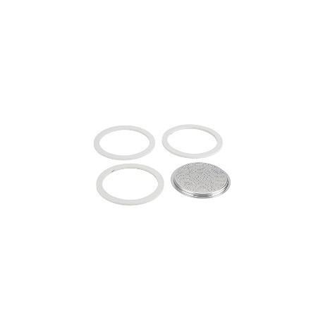 BIALETTI set 3 gumice + filter za kafetijeru od 3 ili 4 šalice