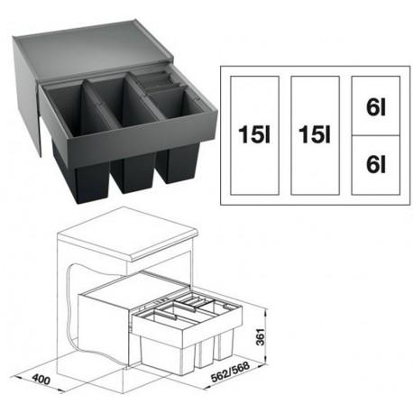 BLANCO SELECT 60/4 (520781), sistem za odvajanje otpada