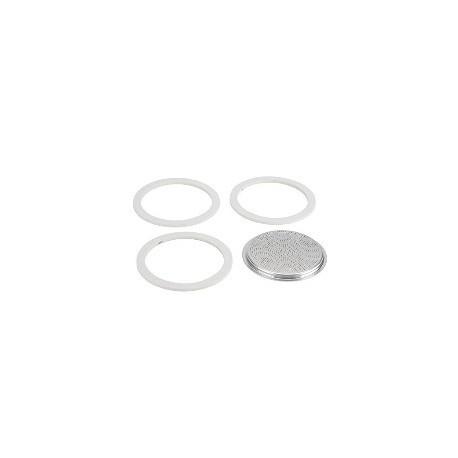 BIALETTI set 3 gumice + filter za kafetijeru od 9 šalica, za aluminijske kafetijere