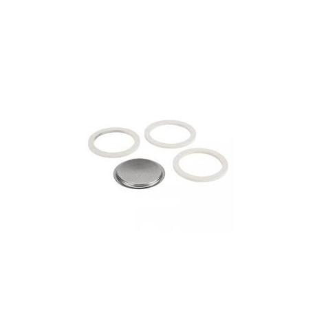 BIALETTI set 3 gumice + filter za kafetijeru od 12 šalica, za aluminijske