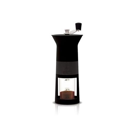 BIALETTI ručni mlinac za moka kavu s mjericom, do 6 šalica, crni