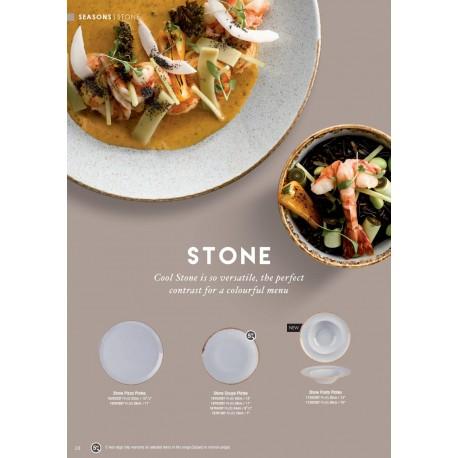 DPS SEASON linija STONE porculanskih tanjura, 28 cm, plitki, bijeli kamen boja, 6 komada
