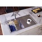 ALVEUS  STYLUX 50 F/S  LIJEVI, inox sudoper za element od 45 cm, površinsko usadna (S)  ili potpuno usadna(F) ugradnja