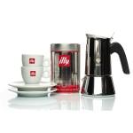 ILLY set ( kava MOKA 250 gr. + Bialetti Venus 4 kafetijera + 2 šalice i tanjurići )