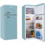 AMICA KGC15632T, A++, kombinirani hladnjak, retro, tirkizno plavi