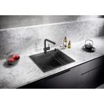 BLANCO ETAGON 6 InFino Black Edition Silgranit Puradur, sudoper sa daljinskim upravljanjem